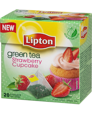 Lipton 20ps Green Strawberry Cupcake pyramidi vihreä tee