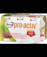 Becel ProActiv 6x100g Granaattiomena-Vadelma Kolesterolia alentava jogurttijuoma