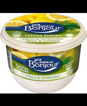 Crème Bonjour 240g Cuisine Fraiche Tilli & Sitruuna 14% hapatettu kermavalmiste