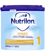 Nutrilon Omneo 1 400g ravintovalmiste imeväiselle jauhe alk 0kk