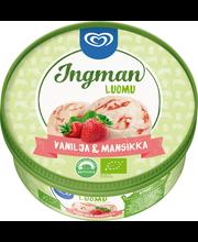 Ingman Luomu 750ml Vanilja & Mansikka