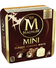 Magnum 6x55 ml Classic/Almond/White Monipakkaus