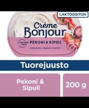 Crème Bonjour 200g Laktoositon Pekoni & Sipuli Tuorejuusto