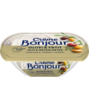 Crème Bonjour 200g Laktoositon Oliivi & Yrtit Tuorejuusto