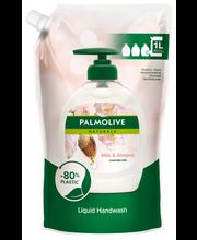 Palmolive Naturals 1000ml Almond & Milk nestesaippua täyttöpussi