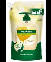 Palmolive Naturals 1000ml Milk & Honey nestesaippua täyttöpussi