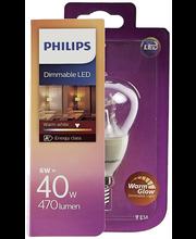 Philips LED mainoslamppu 6W E14 warm glow