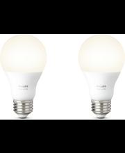 Hue White A60 E27 Lamppu 2pack
