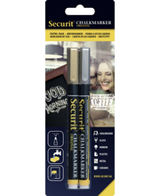 Securit 2 kpl 1-2 mm liitutaulukynä kulta ja hopea
