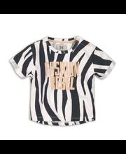 KokoNoko lasten lyhyt seepra t-paita C34959