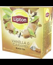 Lipton 20ps Vanilla Caramel pyramidi musta tee
