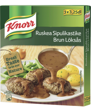 Knorr 3x40g Ruskea sipulikastike kastikeainekset