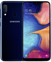 Samsung a20e sininen