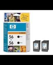 HP 56 musta väripatruuna kaksoispakkaus