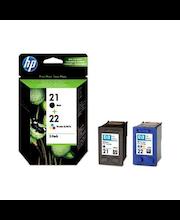 HP 21/22 väripatruunoiden yhdistelmäpakkaus