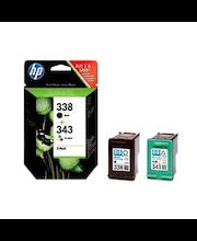 HP 338/343 väripatruunoiden yhdistelmäpakkaus