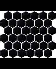 LPC Hexagon 5,1x5,9 matta musta mosaiikkilaatta