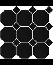 Art Octagon 9.77X9.77 verk.musta/musta lasitettu laatta