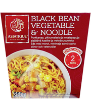 Black Bean Vegetable & Noodle 250g