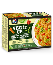 Kitchen Joy 300g Veg it up! Yakisoba. Nuudeleita, vihanneksia, sekä mausteista kastiketta japanilaiseen tapaan, pakaste.