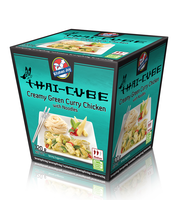 320g Kitchen Joy Thai-Cube Creamy Green Curry -kanaa ja nuudeleita, pakaste