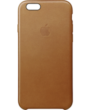 Apple iPhone 6s Plus Leather Case Saddle Brown kuoret
