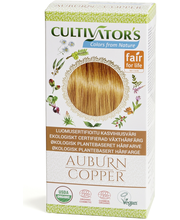 Cultivator's luomusertifioitu kasvihiusväri auburn copper 100g