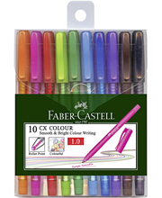Faber-Castell CX Color Ball 10 värin kuulakynäsetti