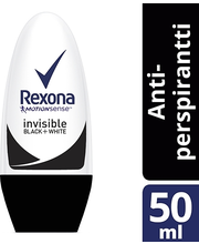 Rexona 50ml Women Invisible for Black & White roll-on