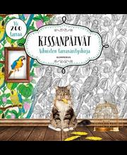 Kissanpäivät - Aikuisten tarrapuuhakirja
