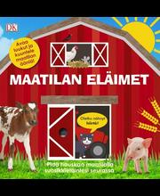 Maatilan eläimet, ääni ja liikuteltava läppä