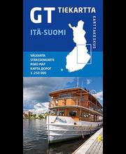 GT Tiekartta Itä-Suomi 2015, kartta