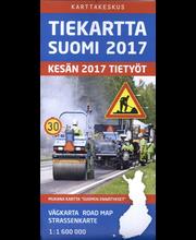 Tiekartta Suomi 2017, kartta