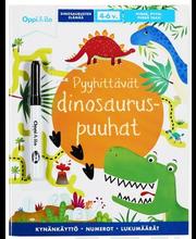 Pyyhittävät dinosauruspuuhat -puuhakirja