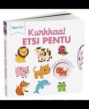 Oppi&ilo Kurkkaa! Etsi pentu -pahvikirja 0-3v