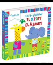 Oppi&ilo Etsi ja yhdistä! Iloiset eläimet pahvikirja 1,5-3v