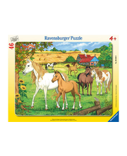 Ravensburger Horses in the Paddock palapeli, 46 palaa