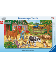 Ravensburger Happy Farm Life palapeli, 15 palaa