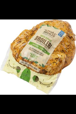 Jyväbroiler Yrtti-Pippurimaustettu Kokonainen Broileri n1,3kg