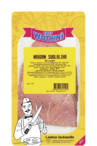 Chef Wotkin´s 80-170 g Naudan suolaliha kokolihaleikkele