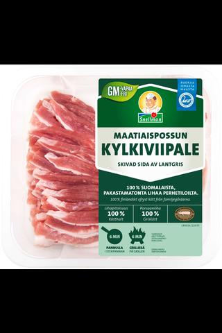 Snellman n350g Maatiaispossun kylkiviipale tuore liha