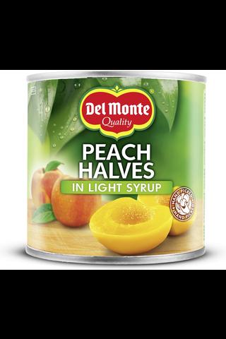 Del Monte 420g persikanpuolikas kevyessä sokeriliemessä