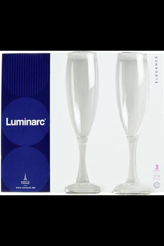 Luminarc 17 cl Elegance kuohuviinilasi 3 kpl/pkt