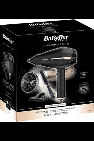 BaByliss Compact Le Pro Intense 6732E hiustenkuivaaja AC musta-ruusukulta