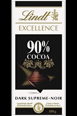 Lindt Excellence 100g 90% tummasuklaalevy