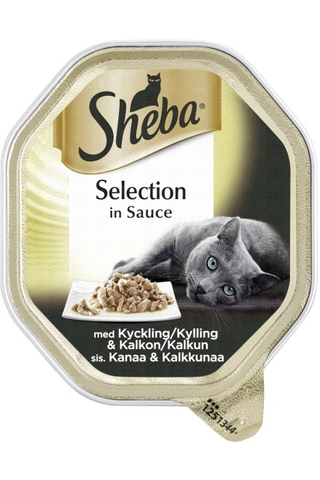 Sheba Selection with Chicken & Turkey in sauce 85g