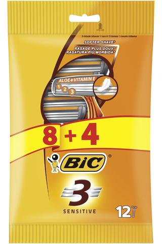 Bic 8+4kpl Sensitive3 varsiterä