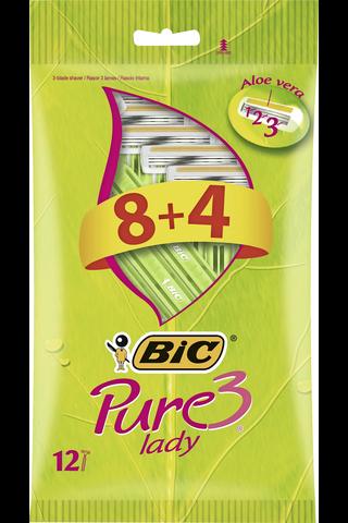 Bic 8+4kpl Pure3 Lady varsiterä