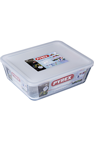Pyrex Cook & Freeze kannellinen lasivuoka 27x22cm