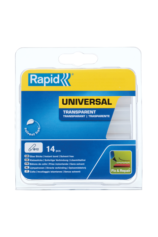 Kuumaliima Rapid 125 g 12 mm, kirkas